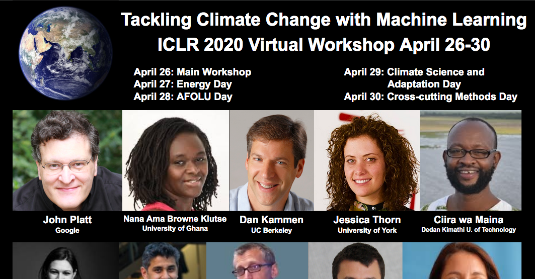 ICLR 2020 Workshop Tackling Climate Change with Machine Learning